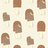 The background of ice cream. Seamless background of ice cream. Some desserts with bite marks stock illustration