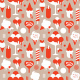 Background with ice-cream silhouettes Stock Images