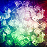 Background with ice cubes Royalty Free Stock Photos