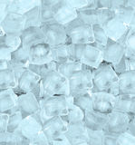Background with ice cubes blue light Stock Photography