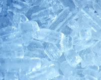Background with ice cubes close up Stock Images