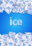 Background with ice cubes. Vector illustration made with gradient mesh.Background with ice cubes stock illustration