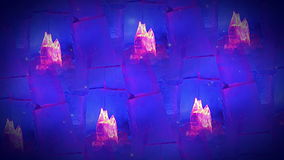 Background with ice flames. Looped seamless Royalty Free Stock Photo