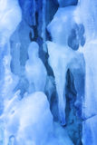 Background from ice and icicles Stock Photo