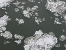 Background Of Ice On A River Stock Photography