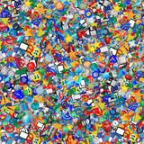 Background of the icons. Background of randomly distributed colored icons for web designers for various necessities Royalty Free Stock Photo