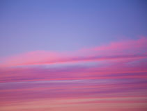 Background idyllic sky sunset pink layers. Pastel soft backdrop beautiful sky stock photos