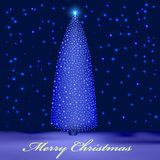 Background with illuminated Christmas tree in the  Royalty Free Stock Photo