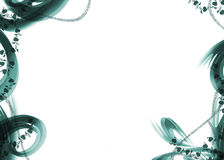 Background illustration. Green white background of love with ornaments and hearts Royalty Free Stock Images