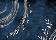Background illustration. Blue and yellow background - nature and flower Stock Images