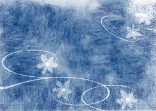 Background illustration. Blue and white background - nature and flower Royalty Free Stock Images