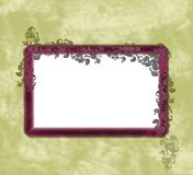 Background illustration. A black background with a frame and flowers Royalty Free Stock Photography
