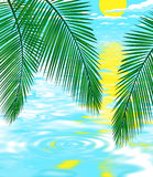 Background illustration of beach. Background illustration of beautiful tropical beach stock illustration