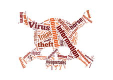 Background illustration of computer virus Stock Photography