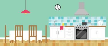 Background Illustration Of Empty Kitchen royalty free illustration