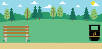 Background Illustration Of Empty Park Royalty Free Stock Images