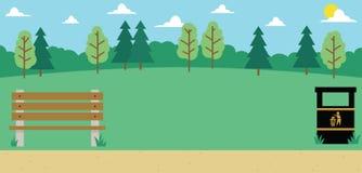 Background Illustration Of Empty Park stock illustration