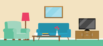 Background Illustration Of Living Room Royalty Free Stock Images