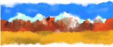 Background illustration of a mountain range Stock Photo