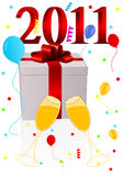 Background illustration of new year. On white background Royalty Free Stock Photos