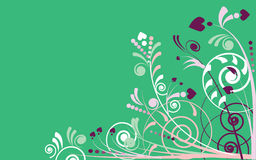 Free Background Illustration Of Plants In Green Royalty Free Stock Photos - 13654138