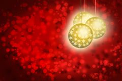 Christmas card with star decorations stock illustration