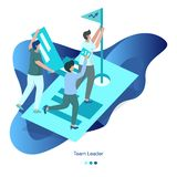 Background Illustration Team Leader stock illustration