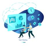 Background Illustration Team Meeting stock illustration
