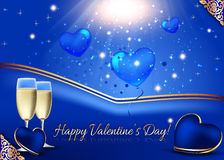 Background  illustration for Valentines Day Royalty Free Stock Image