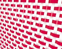 Background. Illustration of weaved pattern in red and white color Stock Photo
