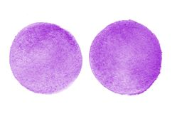 Background image of abstract watercolor spots forming a round shape of violet color.  royalty free illustration