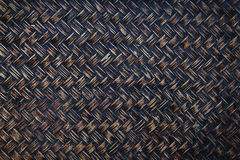Background image of bamboo or wicker basket weave Royalty Free Stock Images