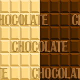 Background with the image of black and white chocolate Stock Photos
