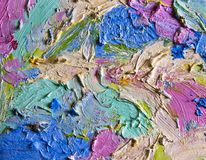 Background image of bright oil-paint palette Royalty Free Stock Images