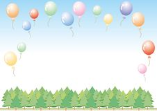 Colorful balloons set - Vector illustration set many colors stock illustration