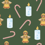 The background image candle, cookies, candy Royalty Free Stock Photos