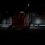 Background image of a dark corridor on bord of a Stock Images