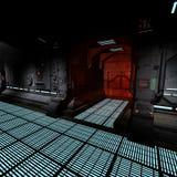 Background image of a dark corridor on bord of a Stock Photos