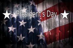 President s Day background on wood. Royalty Free Stock Photography