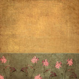 Background image with floral elements. Lovely background image with floral elements and earthy texture Royalty Free Stock Photos