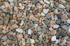 Scattered stones, rubble as a background. stock photos