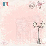 Background image on France with street lamp Royalty Free Stock Photography