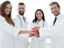 Background image of a group of doctors. The concept of teamwork royalty free stock photo