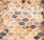 Background image of hexagonal clay tiles Royalty Free Stock Photo