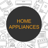Background with the image of home appliances. Banner for your company or shop with space for text. Royalty Free Stock Photos