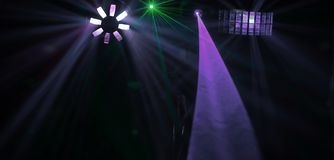 Background image of lights in night club.photo with copy space royalty free stock photography