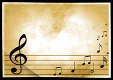 Background with the image of musical symbols Royalty Free Stock Images