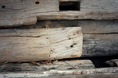 Background image of old wood from nature. Royalty Free Stock Photo