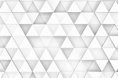 Decorative white relief with triangles and shadows. Background image with ordered triangles forming shadows 3d Stock Image
