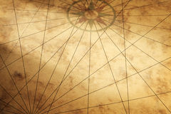Background image with paper texture and compass Stock Photo